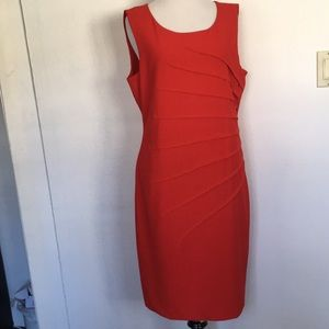 Calvin Klein Gorgeous!!!Red fitted dress